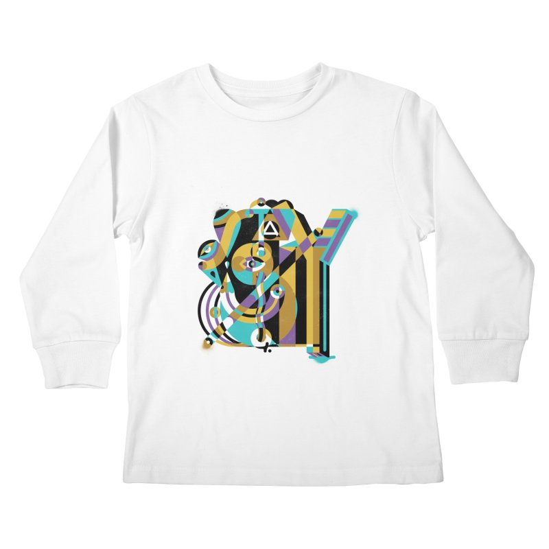 Stay Cubist Kids Longsleeve T-Shirt by Mario Carpe Shop