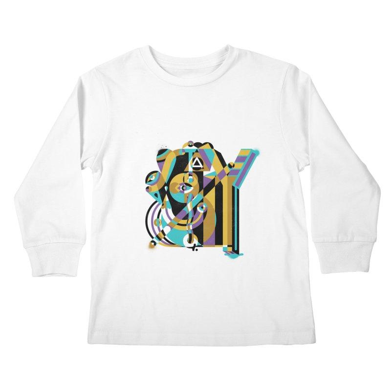 Stay Cubist Kids Longsleeve T-Shirt by Mario Carpe Shop
