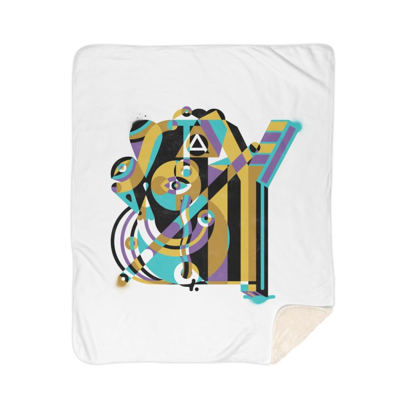 Stay Cubist Home Sherpa Blanket Blanket by Mario Carpe Shop