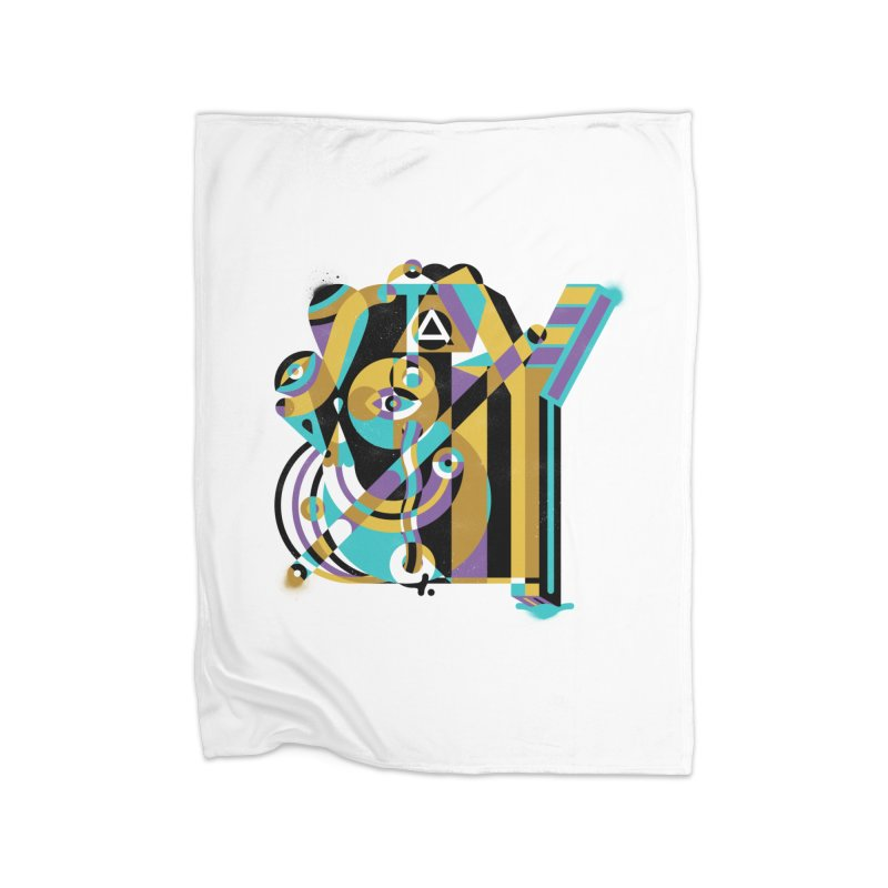 Stay Cubist Home Blanket by Mario Carpe Shop