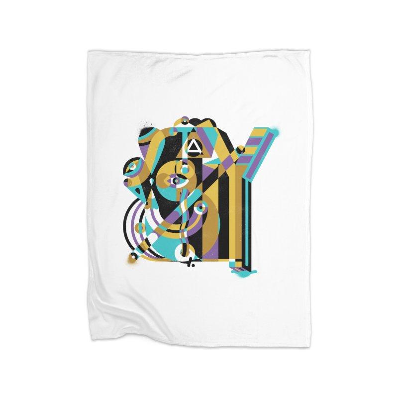 Stay Cubist Home Fleece Blanket Blanket by Mario Carpe Shop