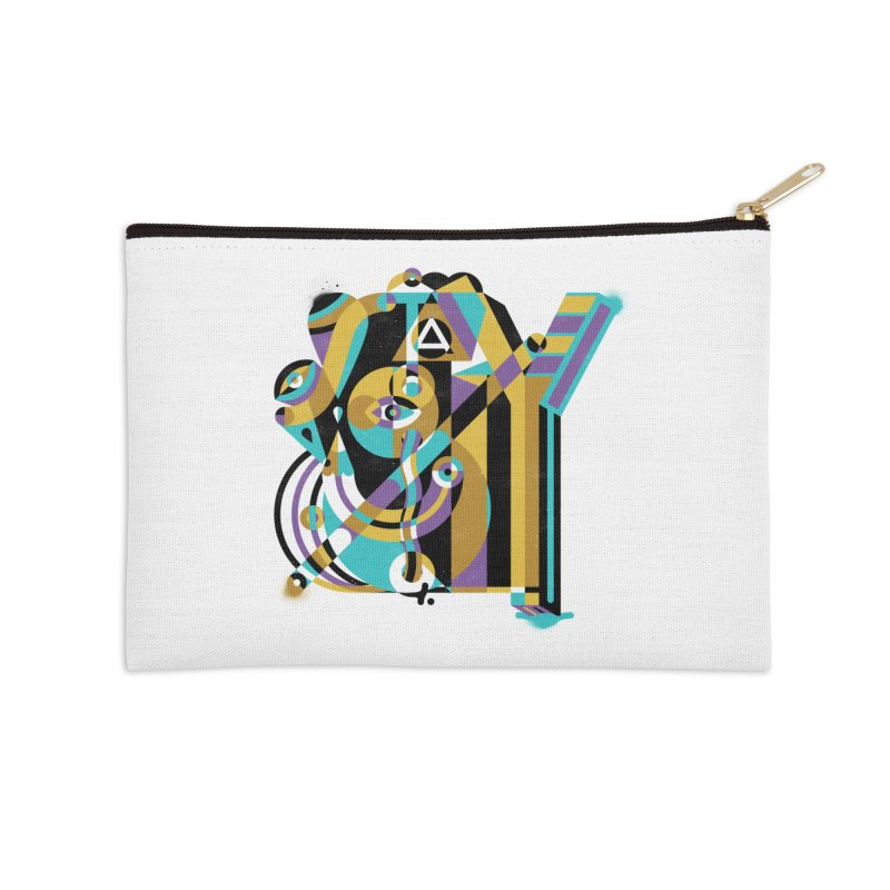 Stay Cubist Accessories Zip Pouch by Mario Carpe Shop
