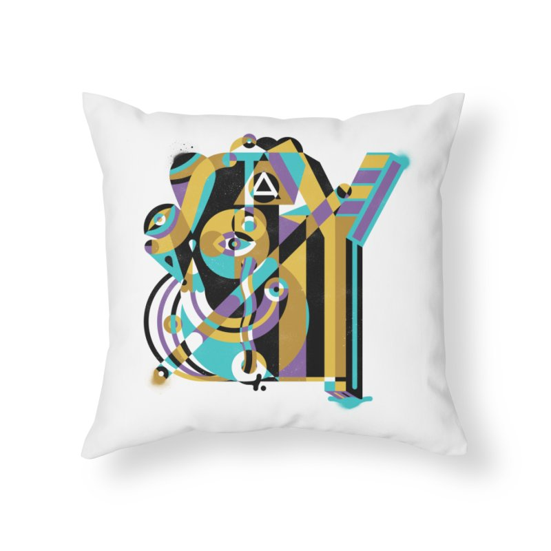 Stay Cubist Home Throw Pillow by Mario Carpe Shop