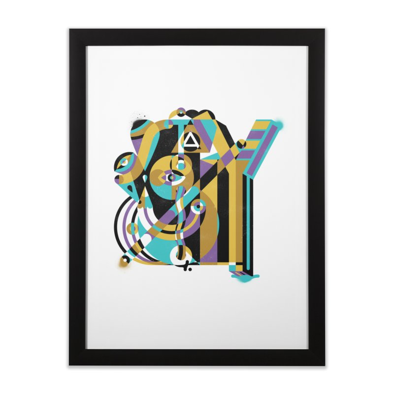 Stay Cubist Home Framed Fine Art Print by Mario Carpe Shop