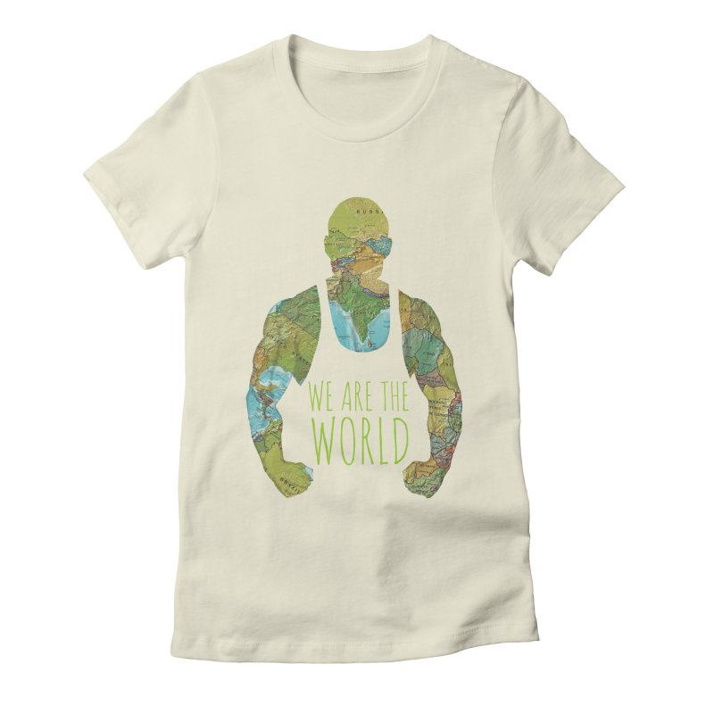 We Are The World Women's Fitted T-Shirt by Made by MAD