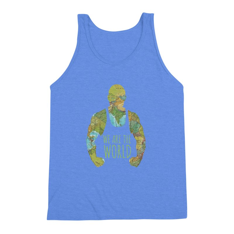 We Are The World Men's Triblend Tank by Made by MAD