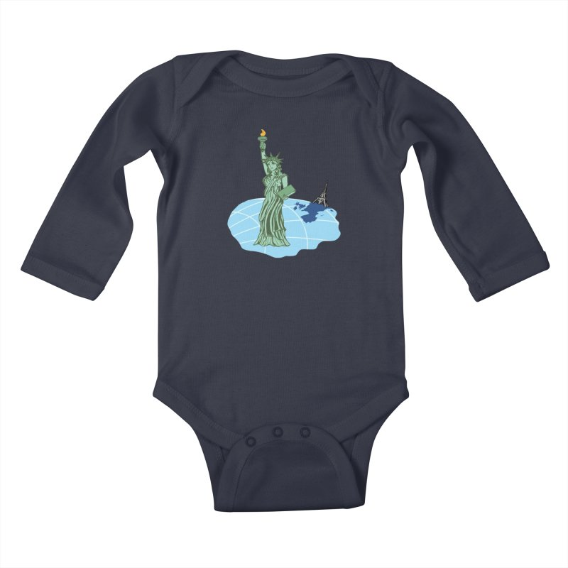 Statue of Envy Kids Baby Longsleeve Bodysuit by Made by MAD
