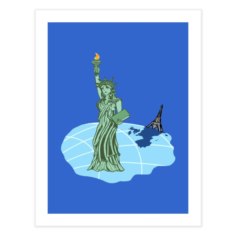 Statue of Envy Home Fine Art Print by Made by MAD