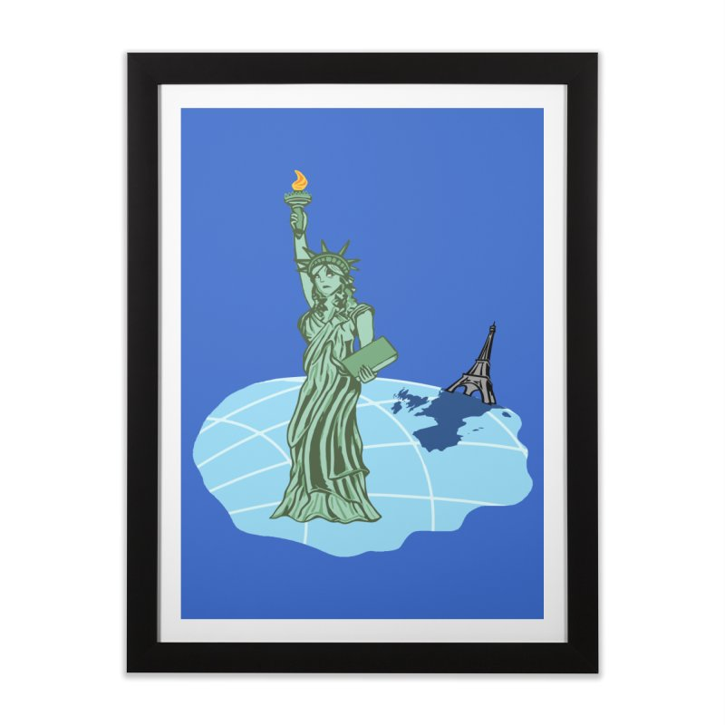 Statue of Envy Home Framed Fine Art Print by Made by MAD