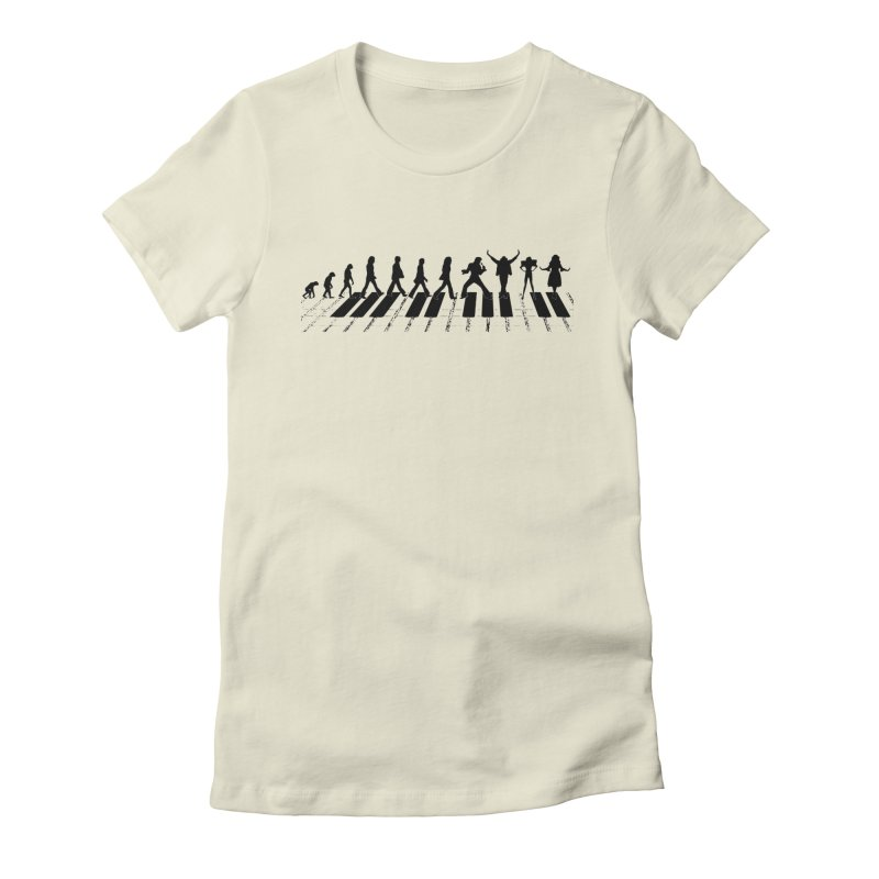 Evolution of Music Women's T-Shirt by Made by MAD