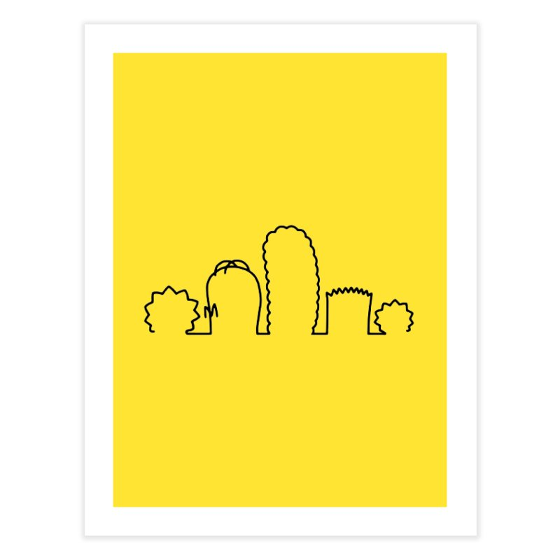 SIMPLESONS Home Fine Art Print by Made by MAD