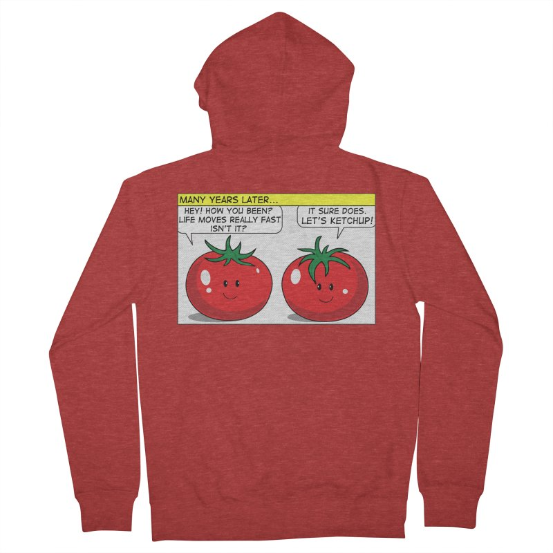 Let's Ketchup! Women's Zip-Up Hoody by Made by MAD