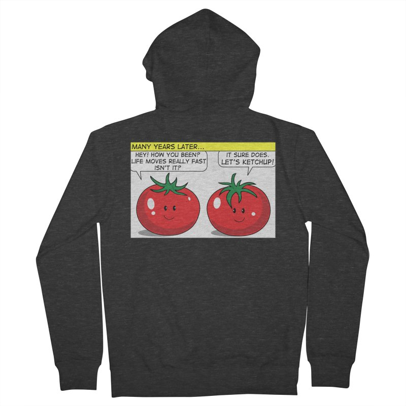 Let's Ketchup! Men's Zip-Up Hoody by Made by MAD