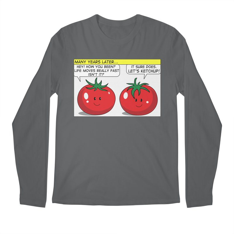Let's Ketchup! Men's Regular Longsleeve T-Shirt by Made by MAD