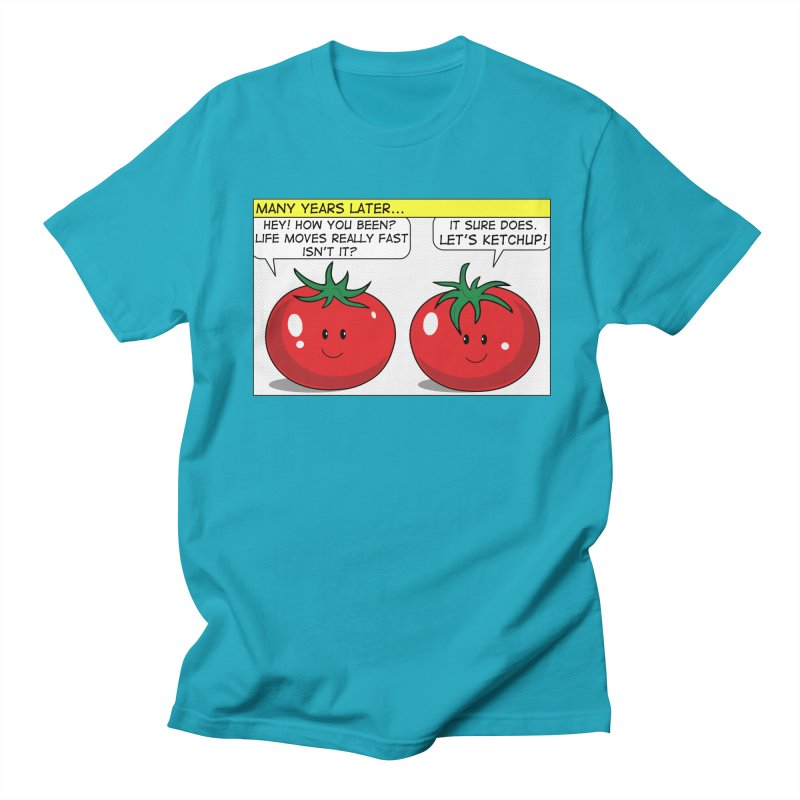 Let's Ketchup! Men's Regular T-Shirt by Made by MAD