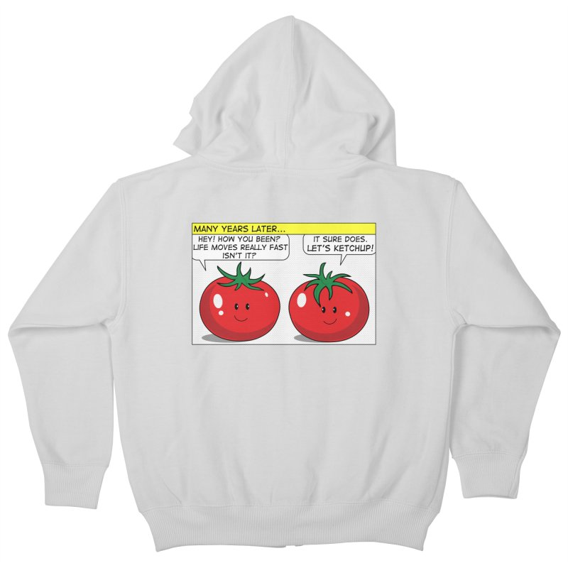 Let's Ketchup! Kids Zip-Up Hoody by Made by MAD