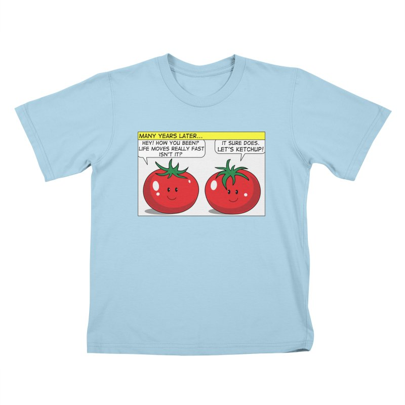Let's Ketchup! Kids T-Shirt by Made by MAD