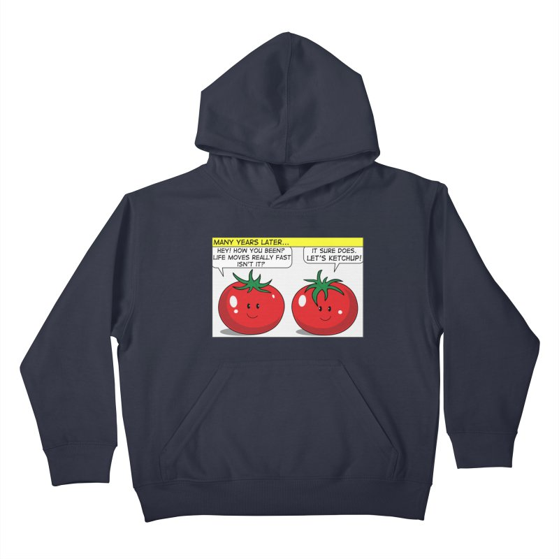 Let's Ketchup! Kids Pullover Hoody by Made by MAD