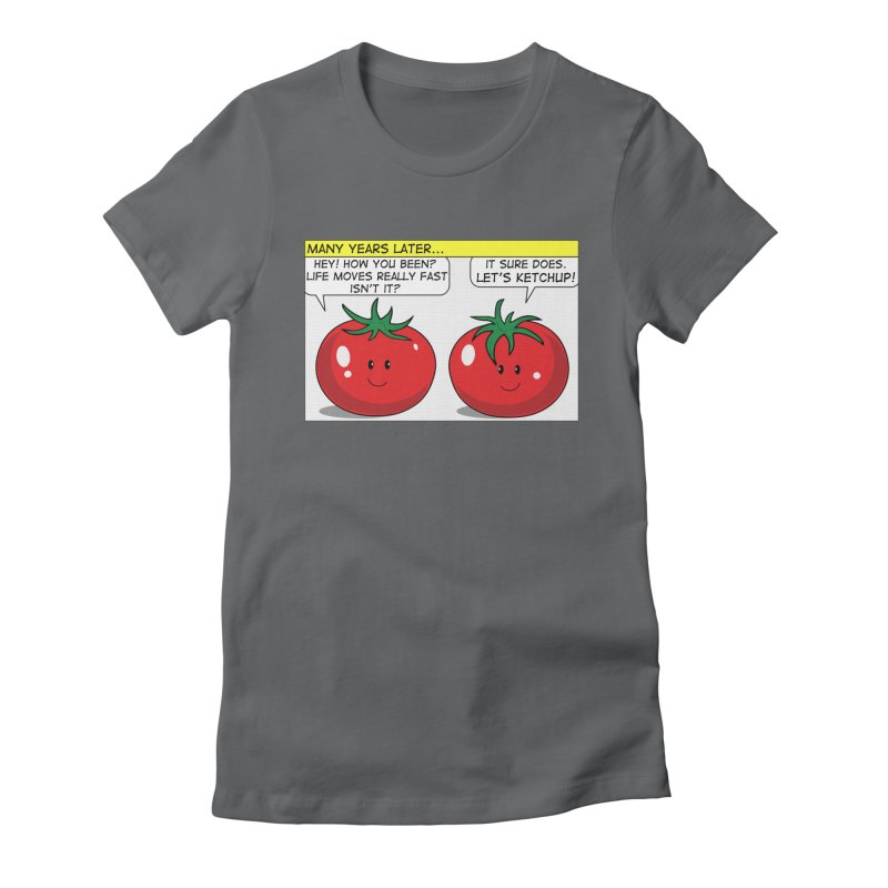 Let's Ketchup! Women's Fitted T-Shirt by Made by MAD