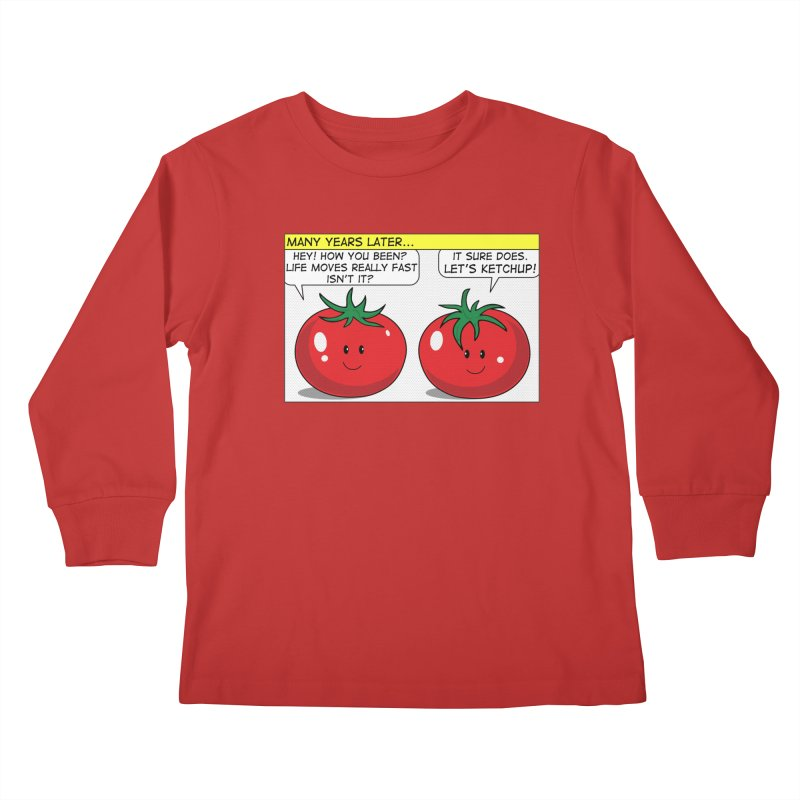 Let's Ketchup! Kids Longsleeve T-Shirt by Made by MAD