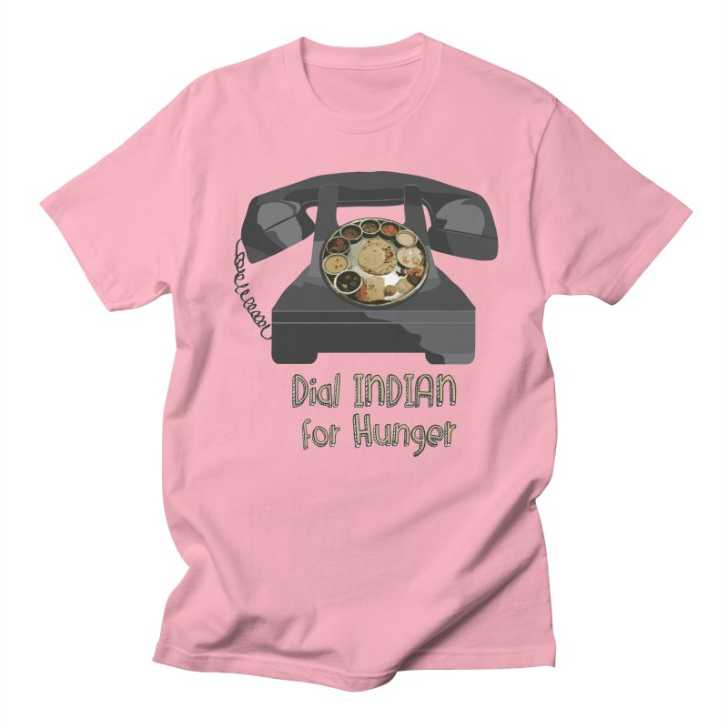 Dial INDIAN for Hunger Men's Regular T-Shirt by Made by MAD