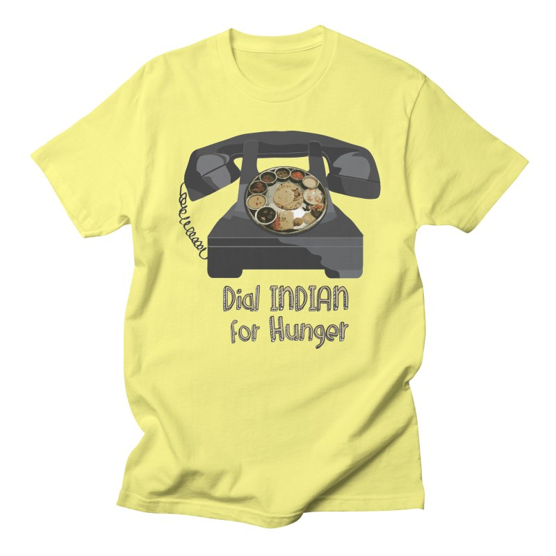 Dial INDIAN for Hunger Men's T-Shirt by Made by MAD