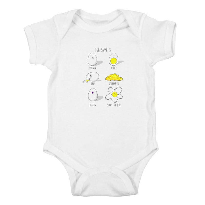 EGG-SAMPLES Kids Baby Bodysuit by Made by MAD