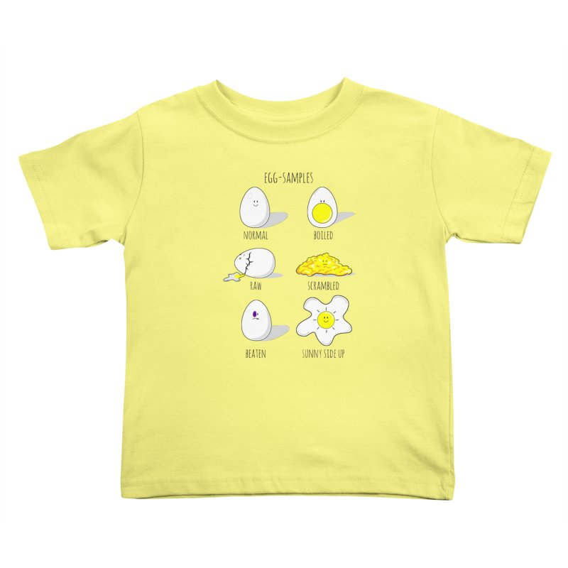 EGG-SAMPLES Kids Toddler T-Shirt by Made by MAD