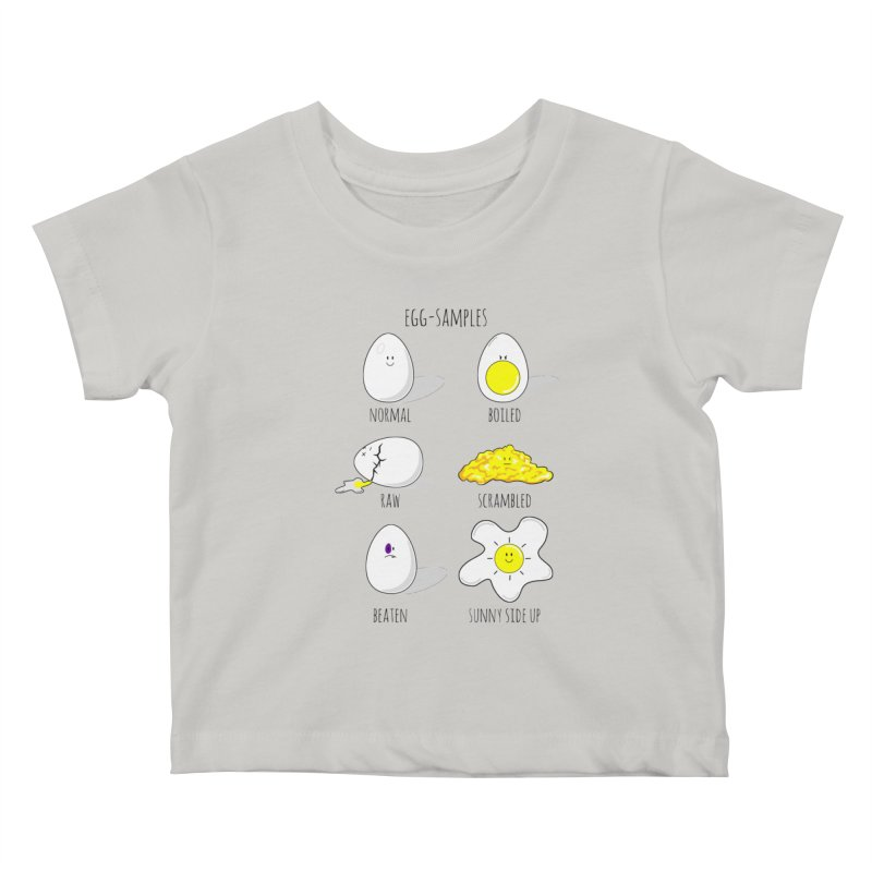 EGG-SAMPLES Kids Baby T-Shirt by Made by MAD