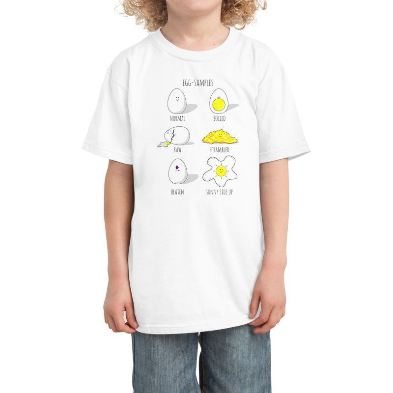 EGG-SAMPLES Kids T-Shirt by Made by MAD