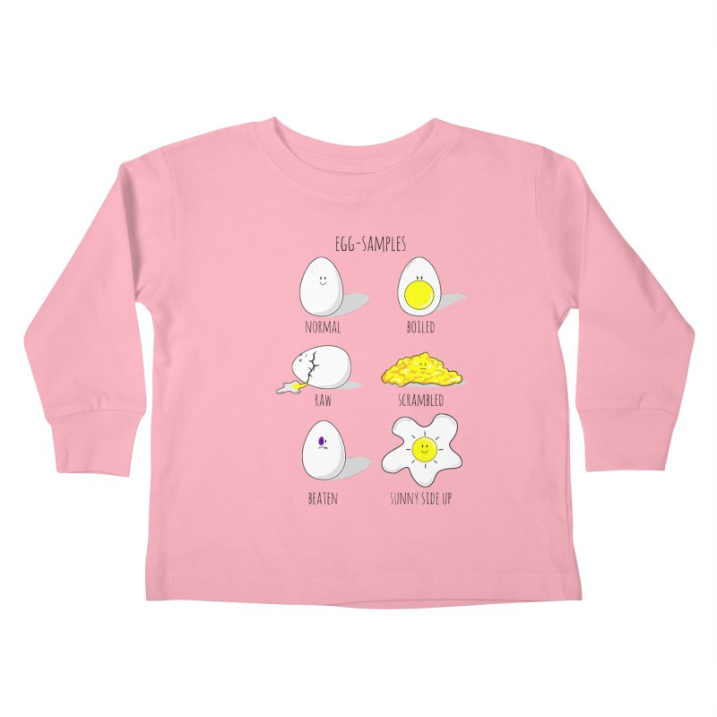 EGG-SAMPLES Kids Toddler Longsleeve T-Shirt by Made by MAD