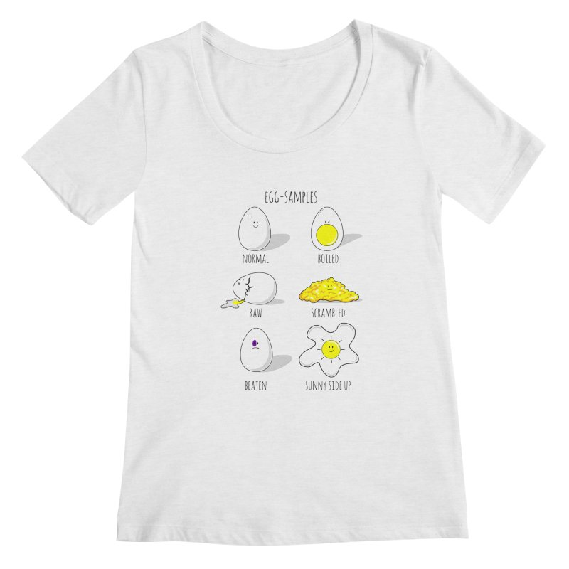 EGG-SAMPLES Women's Regular Scoop Neck by Made by MAD