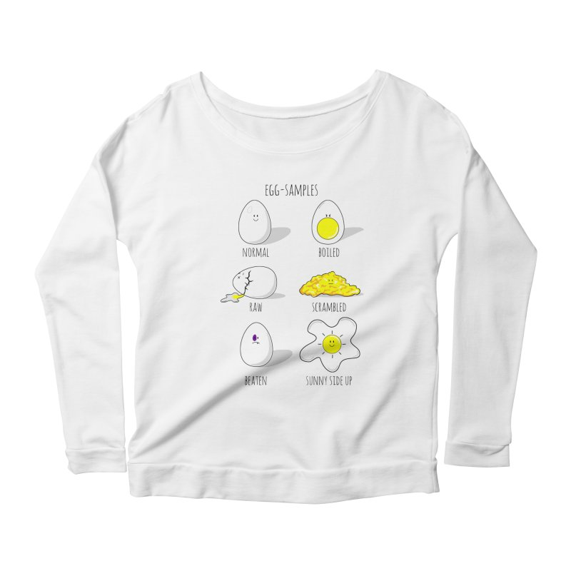 EGG-SAMPLES Women's Scoop Neck Longsleeve T-Shirt by Made by MAD