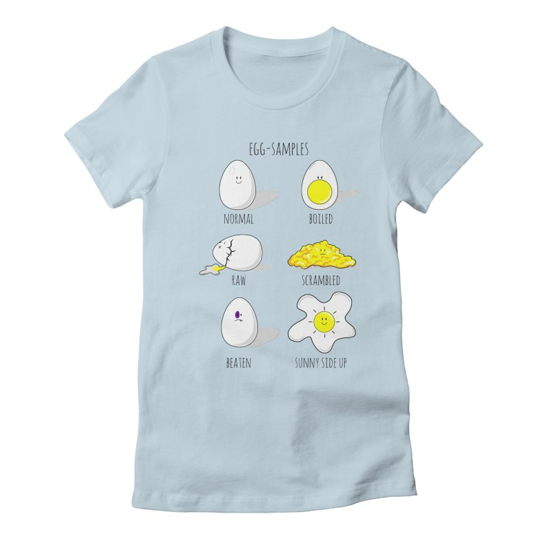 EGG-SAMPLES Women's Fitted T-Shirt by Made by MAD