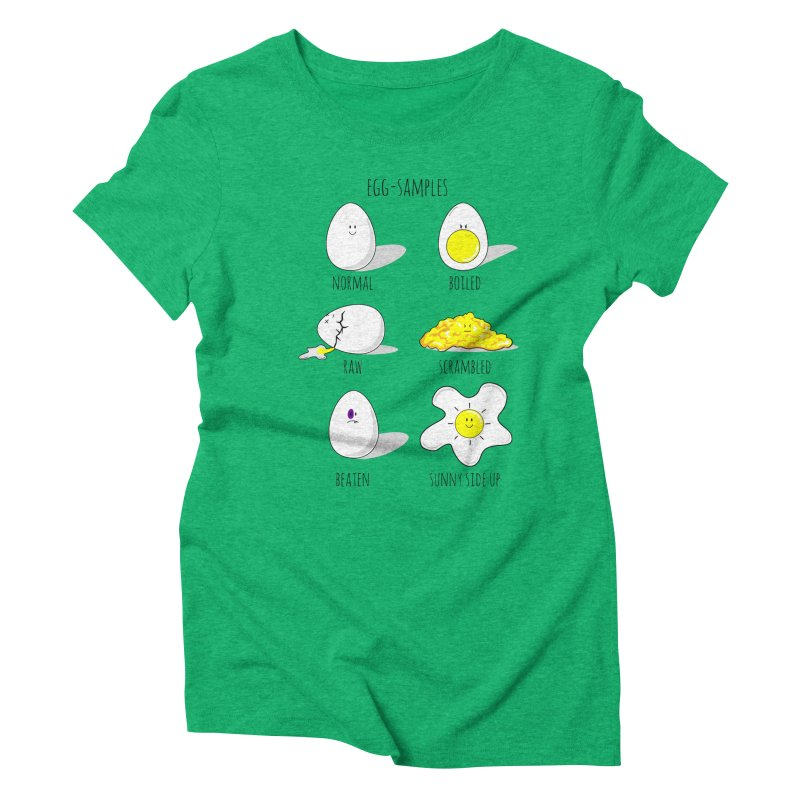 EGG-SAMPLES Women's Triblend T-Shirt by Made by MAD