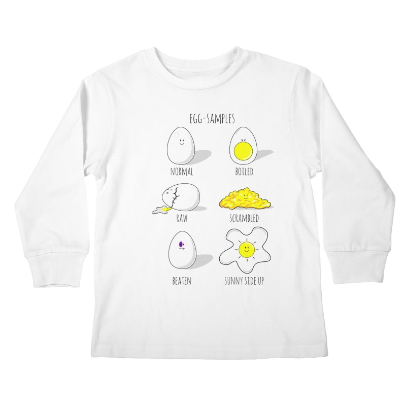 EGG-SAMPLES Kids Longsleeve T-Shirt by Made by MAD