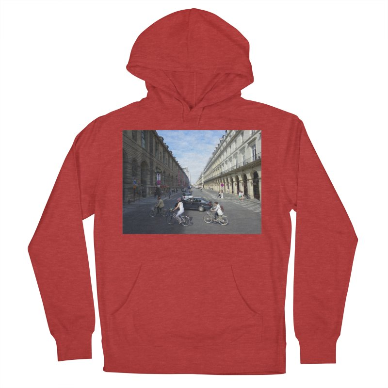 Paris in Splits Men's French Terry Pullover Hoody by Made by MAD
