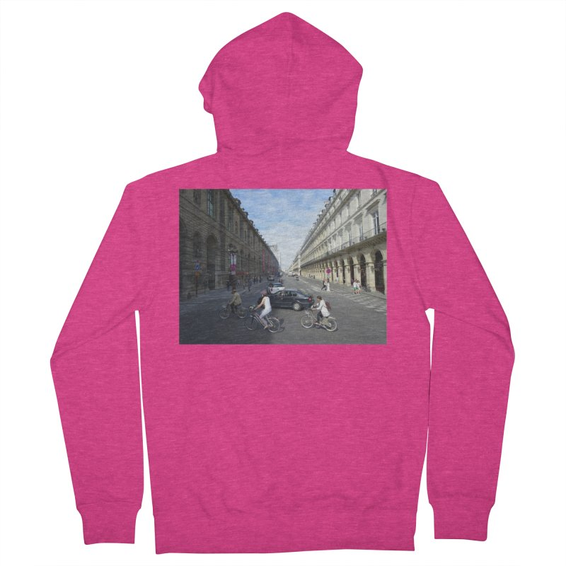 Paris in Splits Women's French Terry Zip-Up Hoody by Made by MAD
