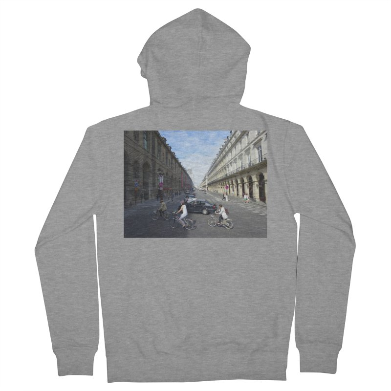Paris in Splits Men's French Terry Zip-Up Hoody by Made by MAD