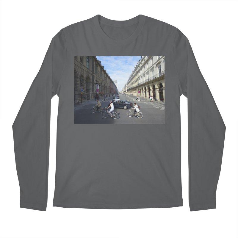 Paris in Splits Men's Regular Longsleeve T-Shirt by Made by MAD