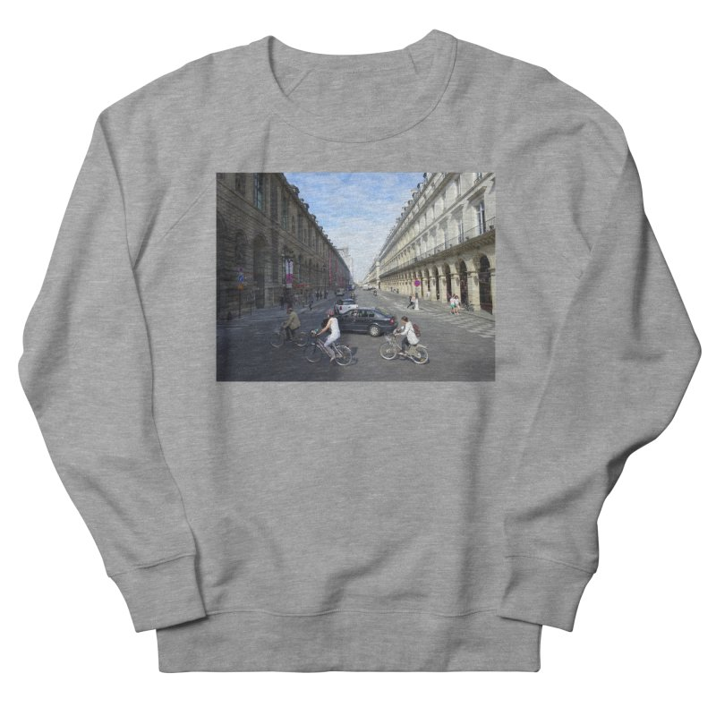 Paris in Splits Men's French Terry Sweatshirt by Made by MAD