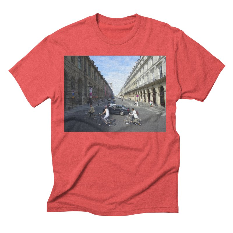 Paris in Splits Men's Triblend T-shirt by Made by MAD