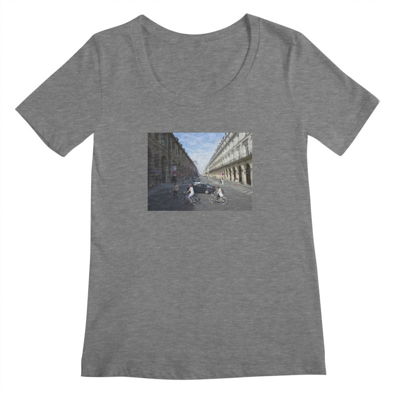 Paris in Splits Women's Scoopneck by Made by MAD