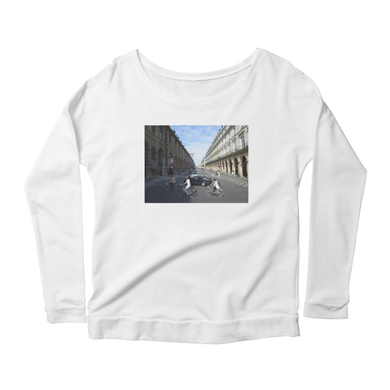 Paris in Splits Women's Scoop Neck Longsleeve T-Shirt by Made by MAD