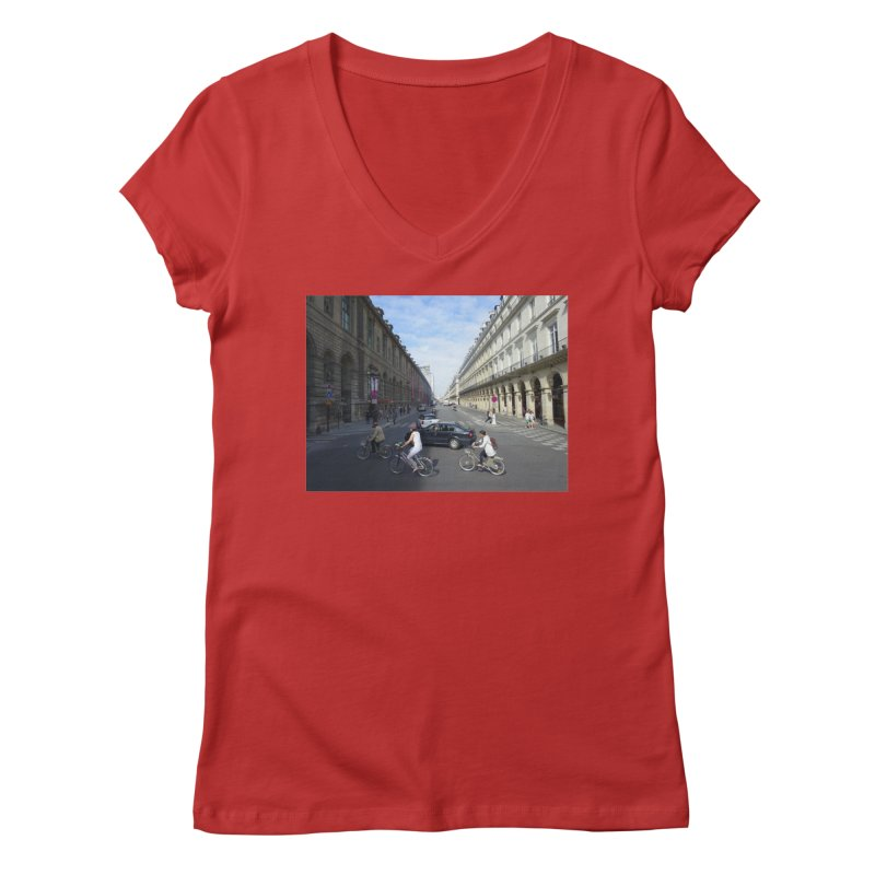 Paris in Splits Women's Regular V-Neck by Made by MAD