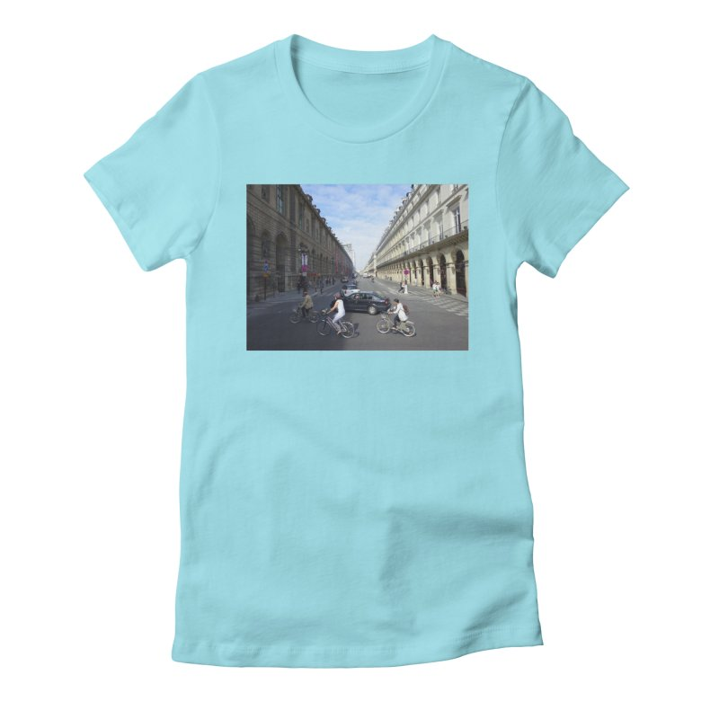 Paris in Splits Women's Fitted T-Shirt by Made by MAD