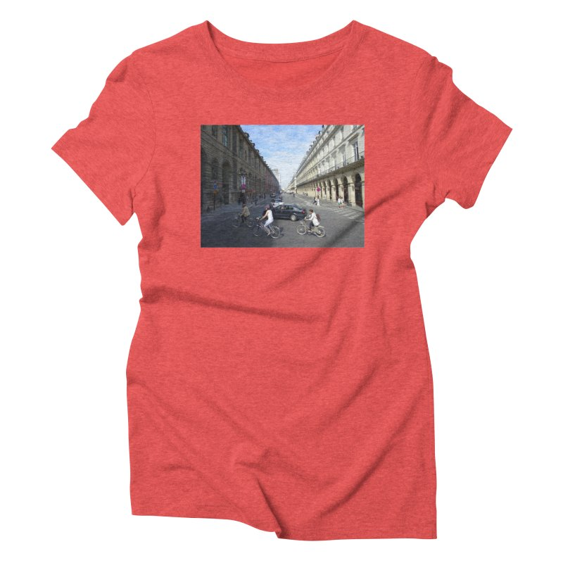 Paris in Splits Women's Triblend T-Shirt by Made by MAD