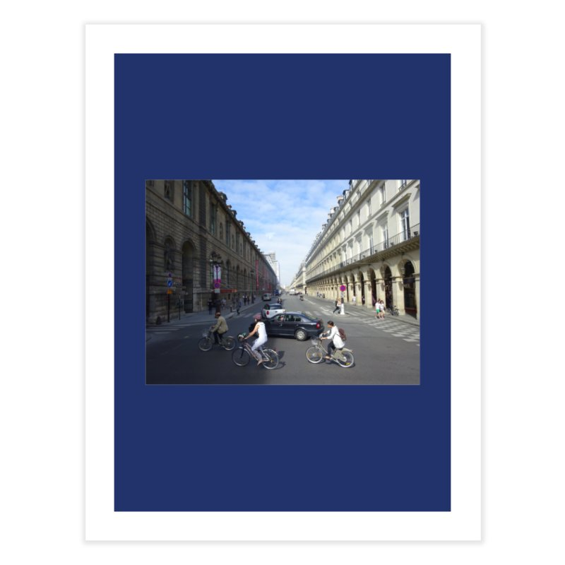 Paris in Splits Home Fine Art Print by Made by MAD