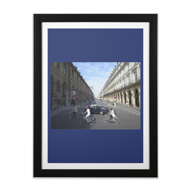 Paris in Splits Home Framed Fine Art Print by Made by MAD