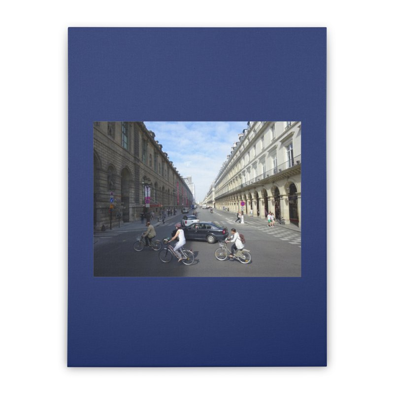 Paris in Splits Home Stretched Canvas by Made by MAD